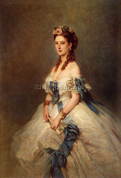 GERMAN WINTERHALTER FRANZ XAVER ALEXANDRA PRINCESS OF WALES ARTIST PAINTING OIL