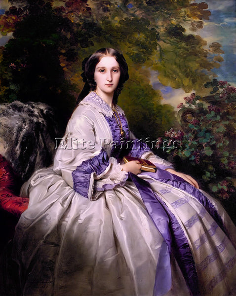 GERMAN WINTERHALTER COUNTESS ALEXANDER NIKOLAEVITCH LAMSDORFF PAINTING HANDMADE