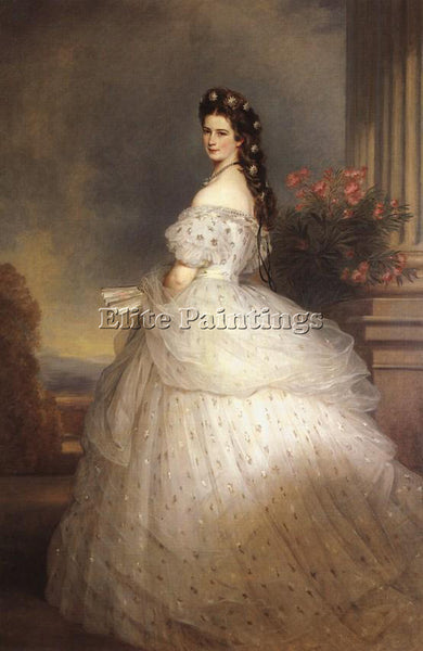 GERMAN WINTERHALTER FRANZ XAVER ELIZABETH EMPRESS OF AUSTRIA 1865 ARTIST CANVAS