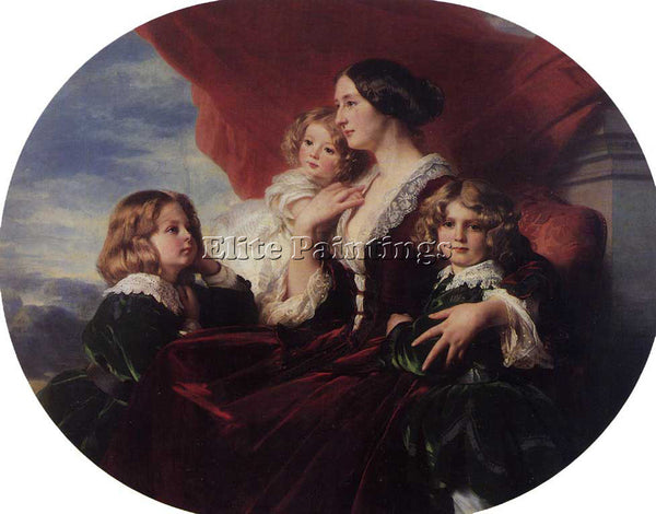 WINTERHALTER ELZBIETA BRANICKA COUNTESS KRASINKA AND HER CHILDREN ARTIST CANVAS