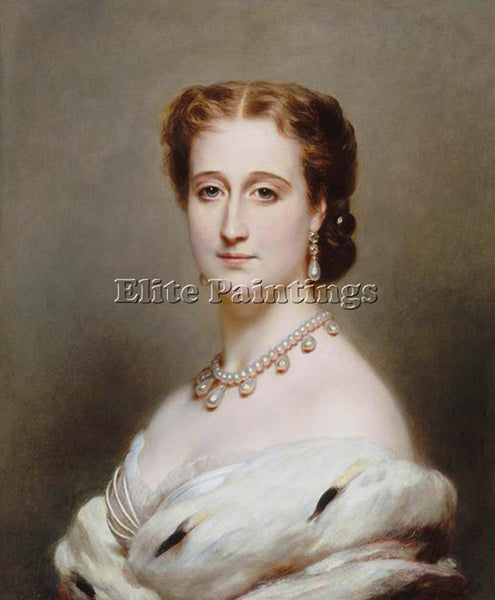 GERMAN WINTERHALTER FRANZ XAVER EUG NIE EMPRESS CONSORT OF THE FRENCH ARTIST OIL