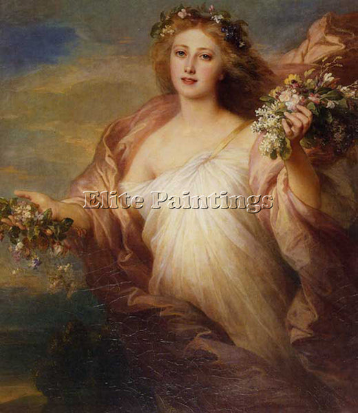 GERMAN WINTERHALTER FRANZ XAVER FRUBLING ARTIST PAINTING REPRODUCTION HANDMADE