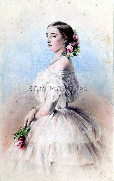 GERMAN WINTERHALTER FRANZ XAVER GRAND DUCHESS OF RUSSIA OLGA FEODOROVNA PAINTING