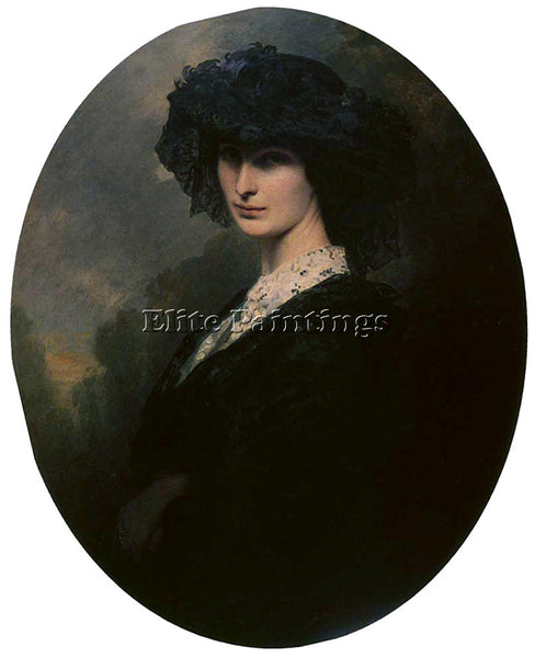 GERMAN WINTERHALTER FRANZ XAVER JADWIGA POTOCKA COUNTESS BRANICKA ARTIST CANVAS