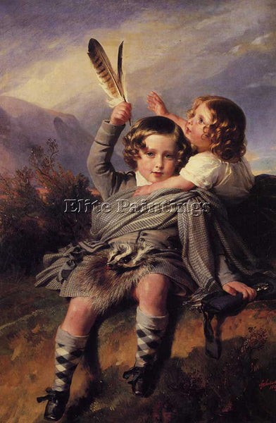 FRANZ XAVIER WINTERHALTER PRINCE ALFRED AND PRINCESS HELENA 1849 ARTIST PAINTING