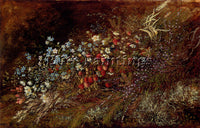 WISINGER FLORIAN OLGA BOUQUET SUMMER FRUITS AND FLOWERS ON MOSSY BANK ARTIST OIL
