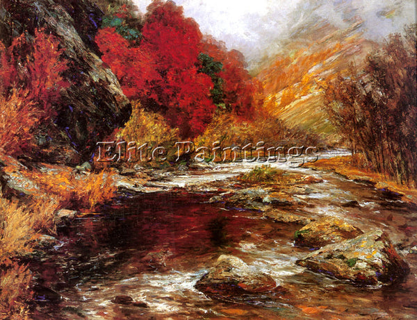 AUSTRIAN WISINGER FLORIAN OLGA A RIVER IN AN AUTUMNAL LANDSCAPE ARTIST PAINTING