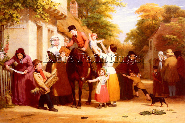 BRITISH WITHERINGTON WILLIAM FREDERICK THE VILLAGE POST OFFICE PAINTING HANDMADE