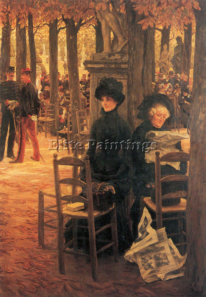 TISSOT WITHOUT AUSSTEUER ARTIST PAINTING REPRODUCTION HANDMADE CANVAS REPRO WALL
