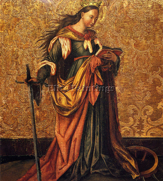 WITZ KONRAD ST CATHERINE OF ALEXANDRIA ARTIST PAINTING REPRODUCTION HANDMADE OIL