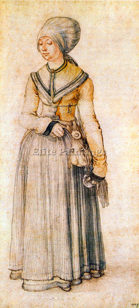DURER WOMAN IN HOUSE DRESS ARTIST PAINTING REPRODUCTION HANDMADE OIL CANVAS DECO