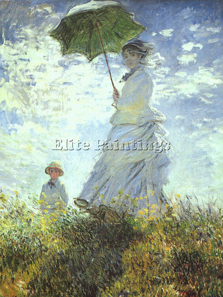 CLAUDE MONET WOMAN WITH A PARASOL 1 ARTIST PAINTING REPRODUCTION HANDMADE OIL