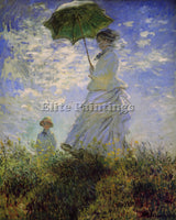 MONET WOMAN WITH A PARASOL ARTIST PAINTING REPRODUCTION HANDMADE OIL CANVAS DECO