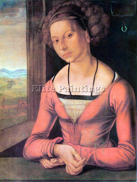 DURER WOMAN WITH BRAIDED HAIR ARTIST PAINTING REPRODUCTION HANDMADE CANVAS REPRO