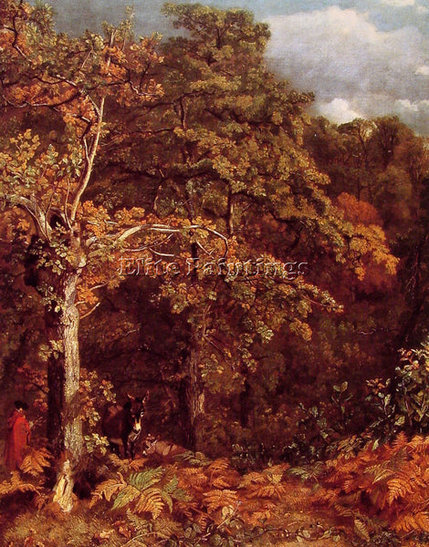 JOHN CONSTABLE WOODED LANDSCAPE ARTIST PAINTING REPRODUCTION HANDMADE OIL CANVAS
