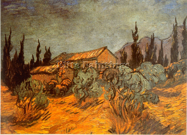 VAN GOGH WOODEN SHEDS ARTIST PAINTING REPRODUCTION HANDMADE OIL CANVAS REPRO ART