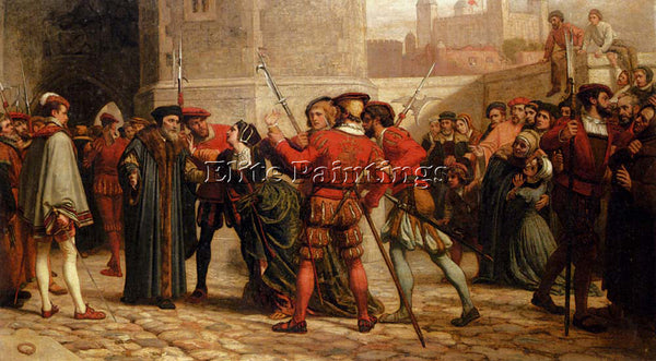 YEAMES WILLIAM FREDERICK THE MEETING OF SIR THOMAS ARTIST PAINTING REPRODUCTION