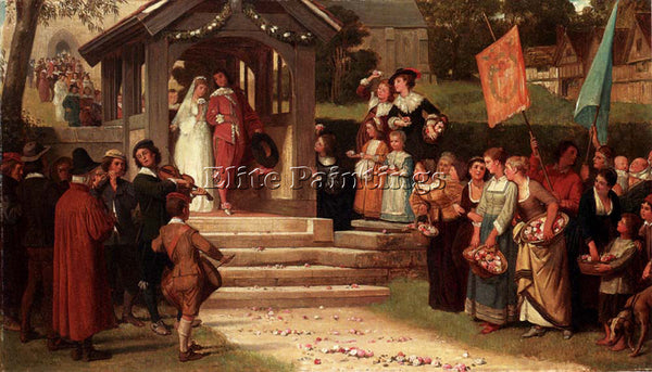 YEAMES WILLIAM FREDERICK THE PATH OF ROSES ARTIST PAINTING REPRODUCTION HANDMADE