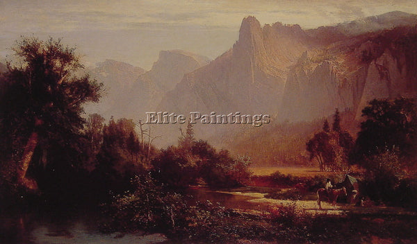 THOMAS HILL YOSEMITE VALLEY ARTIST PAINTING REPRODUCTION HANDMADE OIL CANVAS ART
