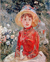 MORISOT YOUNG GIRL WITH CAGE ARTIST PAINTING REPRODUCTION HANDMADE CANVAS REPRO