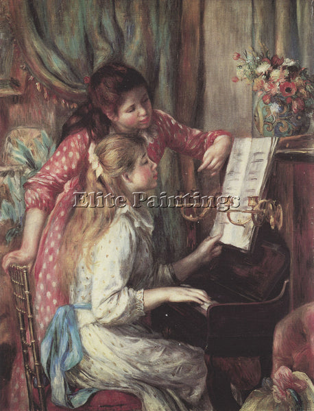 RENOIR YOUNG GIRLS AT THE PIANO 2  ARTIST PAINTING REPRODUCTION HANDMADE OIL ART