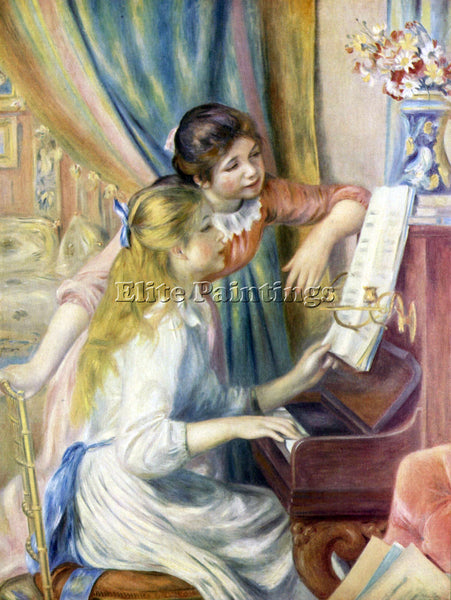 RENOIR YOUNG GIRLS AT THE PIANO 3  ARTIST PAINTING REPRODUCTION HANDMADE OIL ART