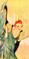 TOULOUSE-LAUTREC YVETTE GUILBERT GREETS THE AUDIENCE ARTIST PAINTING HANDMADE