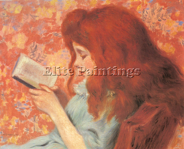 ZANDOMENEGHI FEDERICOYOUNG GIRL READING ARTIST PAINTING REPRODUCTION HANDMADE