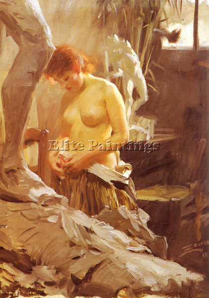 ZORN ANDERS I WIKSTROMS ATELJE ARTIST PAINTING REPRODUCTION HANDMADE OIL CANVAS