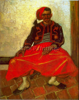 VAN GOGH ZOUAVE ARTIST PAINTING REPRODUCTION HANDMADE CANVAS REPRO WALL  DECO