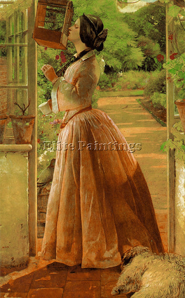 WALTER HOWELL DEVERELL A PET ARTIST PAINTING REPRODUCTION HANDMADE CANVAS REPRO
