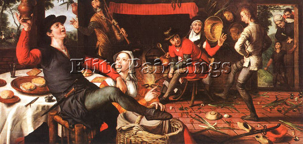 PIETER AERTSEN AERT1 ARTIST PAINTING REPRODUCTION HANDMADE OIL CANVAS REPRO WALL