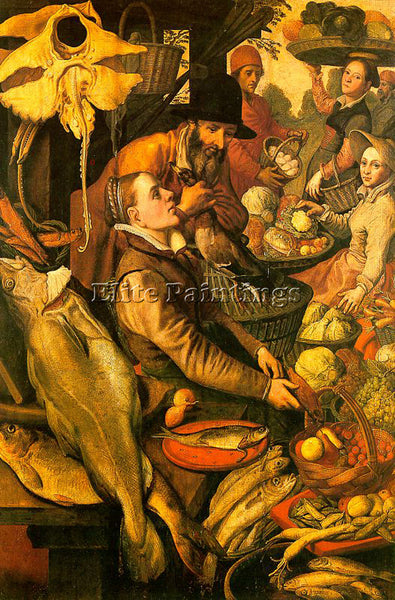 PIETER AERTSEN AERT3 ARTIST PAINTING REPRODUCTION HANDMADE OIL CANVAS REPRO WALL