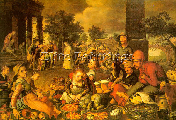 PIETER AERTSEN AERT4 ARTIST PAINTING REPRODUCTION HANDMADE OIL CANVAS REPRO WALL