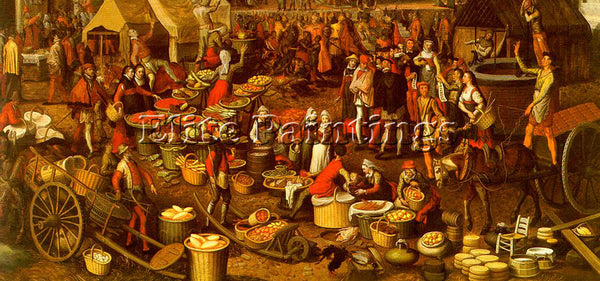 PIETER AERTSEN AERT5 ARTIST PAINTING REPRODUCTION HANDMADE OIL CANVAS REPRO WALL