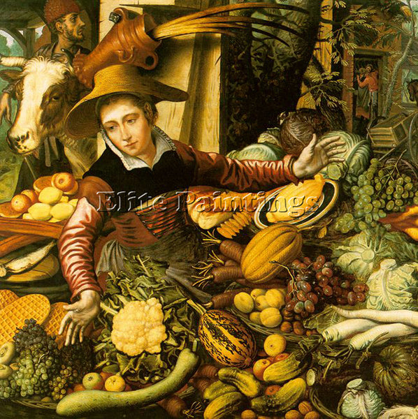 PIETER AERTSEN AERT6 ARTIST PAINTING REPRODUCTION HANDMADE OIL CANVAS REPRO WALL