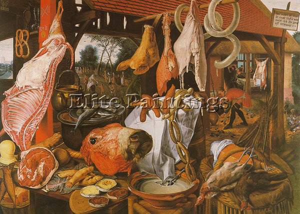 PIETER AERTSEN AERT7 ARTIST PAINTING REPRODUCTION HANDMADE OIL CANVAS REPRO WALL
