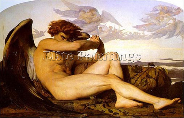 ALEXANDRE CABANEL FALLEN ANGEL 1 ARTIST PAINTING REPRODUCTION HANDMADE OIL REPRO