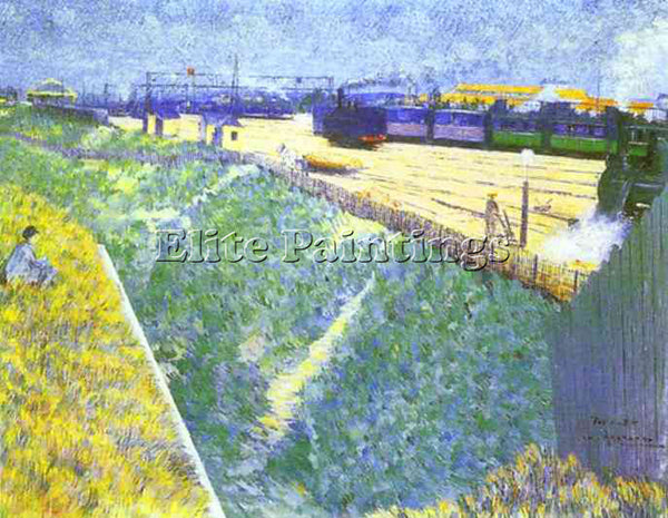 CHARLES ANGRAND ANG2 ARTIST PAINTING REPRODUCTION HANDMADE OIL CANVAS REPRO WALL