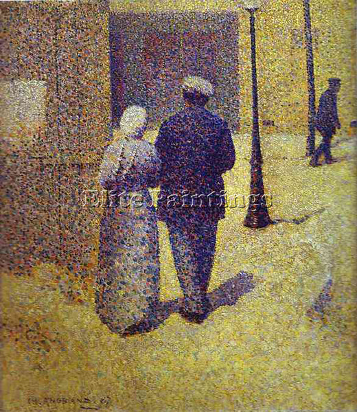 CHARLES ANGRAND ANG3 ARTIST PAINTING REPRODUCTION HANDMADE OIL CANVAS REPRO WALL