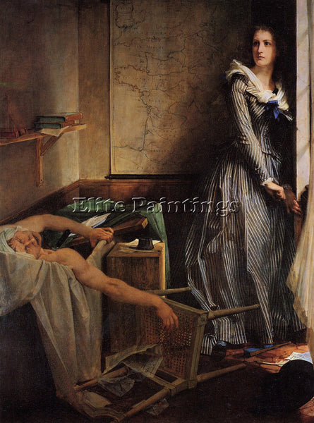 PAUL JACQUES AIMBAUDRY BAUDRY CHARLOTTE CORDAY ARTIST PAINTING REPRODUCTION OIL