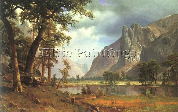 ALBERT BIERSTADT BIER8 ARTIST PAINTING REPRODUCTION HANDMADE CANVAS REPRO WALL