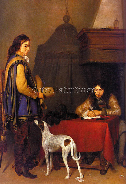 GERARD TER BORCH BORCH4 ARTIST PAINTING REPRODUCTION HANDMADE CANVAS REPRO WALL