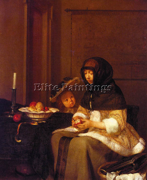 GERARD TER BORCH BORCH12 ARTIST PAINTING REPRODUCTION HANDMADE CANVAS REPRO WALL