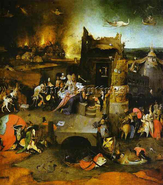 HIERONYMUS BOSCH BOSCH61 ARTIST PAINTING REPRODUCTION HANDMADE CANVAS REPRO WALL