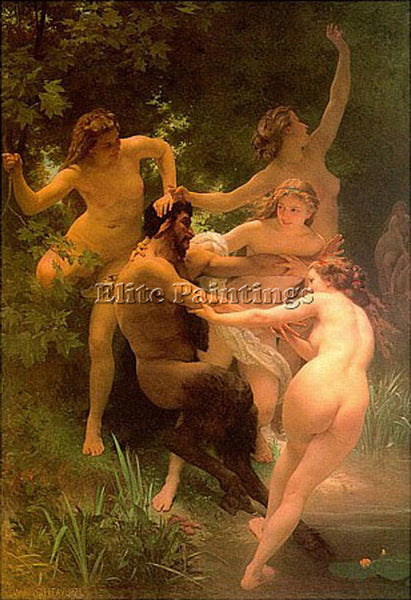 WILLIAM BOUGUEREAU BOUGUEREAU NINFE ARTIST PAINTING REPRODUCTION HANDMADE OIL