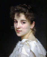 FRENCH BOUGUEREAU WILLIAM ADOLPHE PORTRAIT OF GABRIELLE COT 1890 ARTIST PAINTING