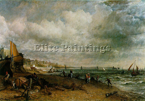 JOHN CONSTABLE BRIGHTON WMM ARTIST PAINTING REPRODUCTION HANDMADE OIL CANVAS ART