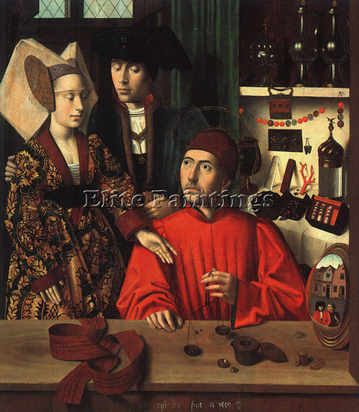 PETRUS CHRISTUS CHRIS10 ARTIST PAINTING REPRODUCTION HANDMADE CANVAS REPRO WALL