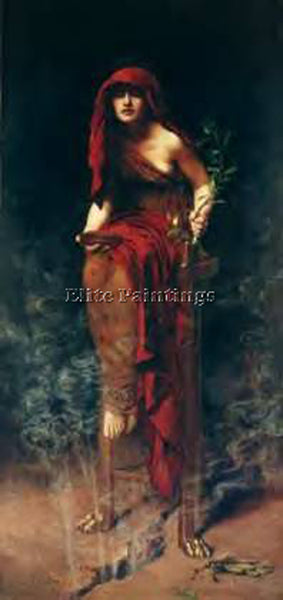 JOHN COLLIER DELPHI ARTIST PAINTING REPRODUCTION HANDMADE CANVAS REPRO WALL DECO